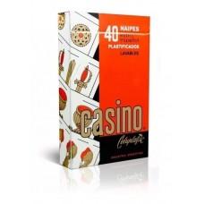 NAIPE CASINO X40 PLASTIFICADO